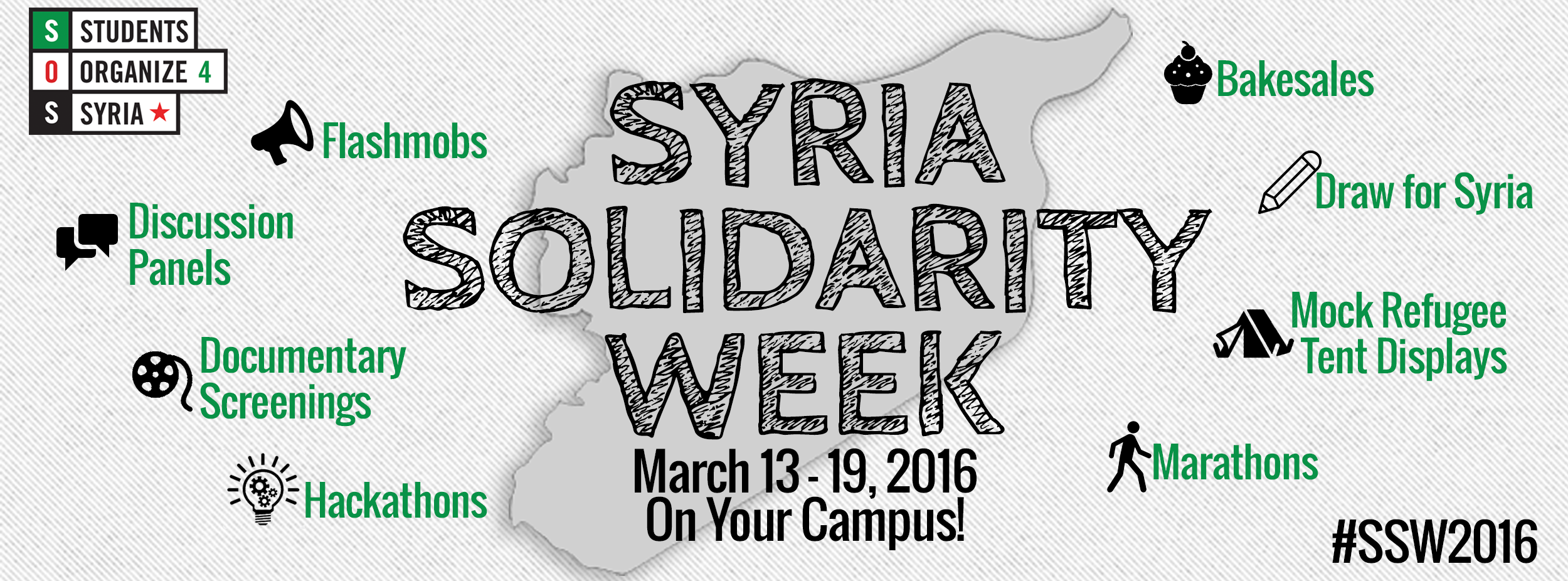 This is our chance as students to remember the roots of the Syrian revolution and honor the Syrian people's struggle for life, liberty, and dignity.